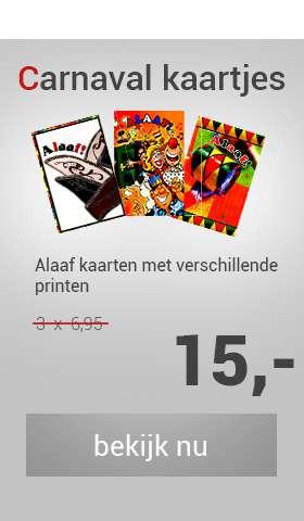 Carnavalskaarten met print
